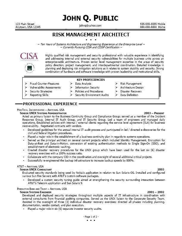 Marvelous Risk Management Resume 29 About Remodel Resume Template ...