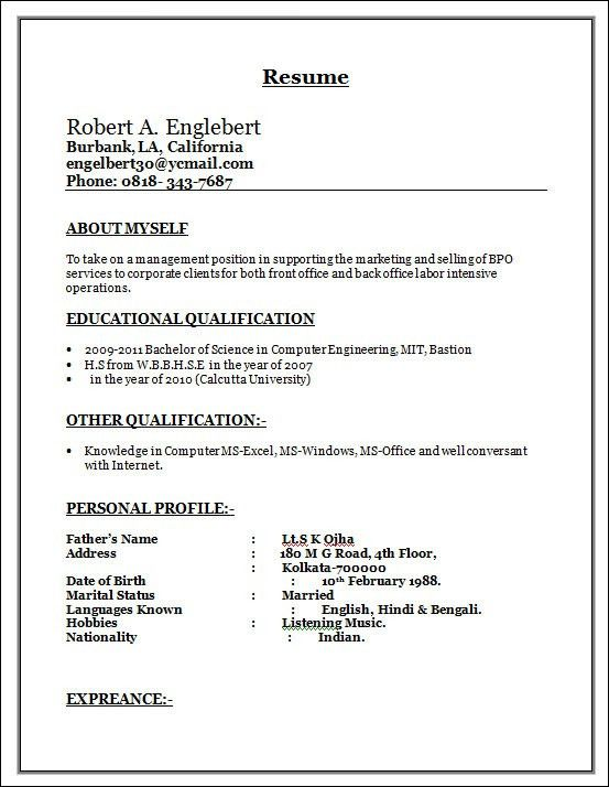sample bpo resume resume cv cover letter. curruculum vitae. resume ...