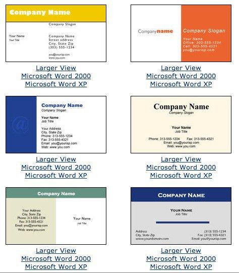 Business Card Template For Microsoft Word | Free Business Template