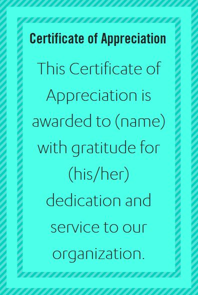 Certificate Wording for Healthcare Industries | Appreciation words