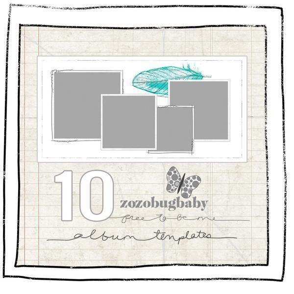 Album Templates- FREE TO BE ME 12X12 FOR WHCC | DigitalEyeCandy