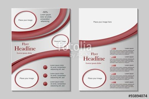 Vector flyer template design in A4 size with front page and back ...
