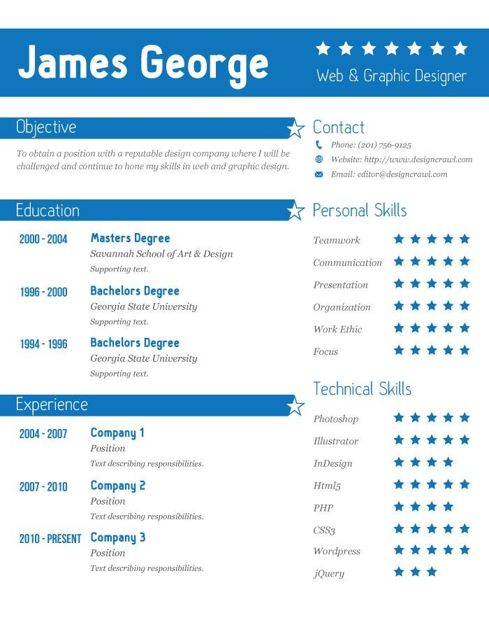 I created a new resume template you can download and use to land a ...