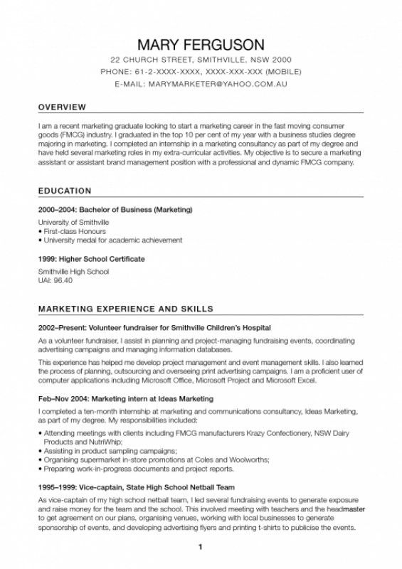 Promotional Model Resume – Resume Examples