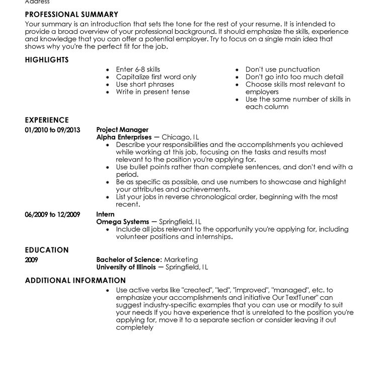 My Perfect Resume Free Templates. free resume templates perfect ...