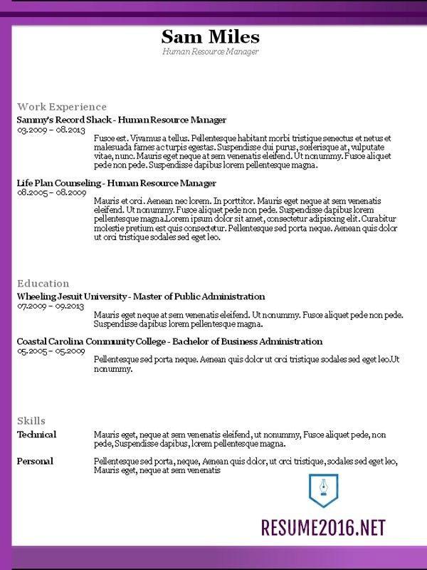 Net Resume Sample | jennywashere.com