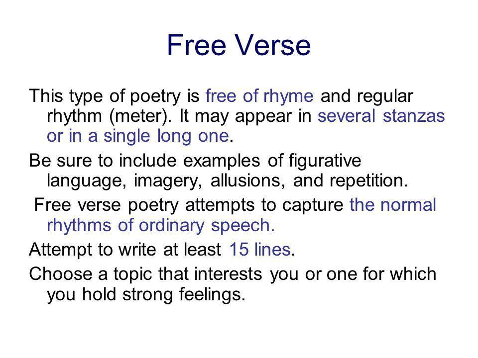 example of a free verse poem k--k.club 2017