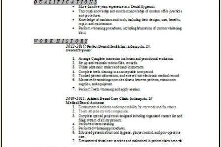 Dental Hygienist Resume Sample Example - Reentrycorps
