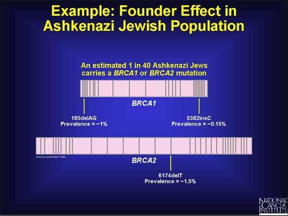 37. Example: Founder Effect in Ashkenazi Jewish Population