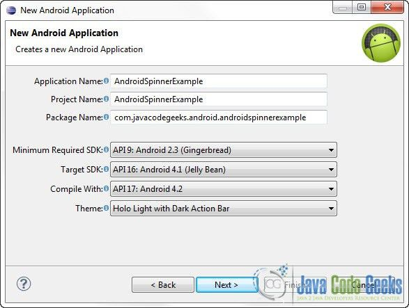 Android Spinner (Drop Down List) Example