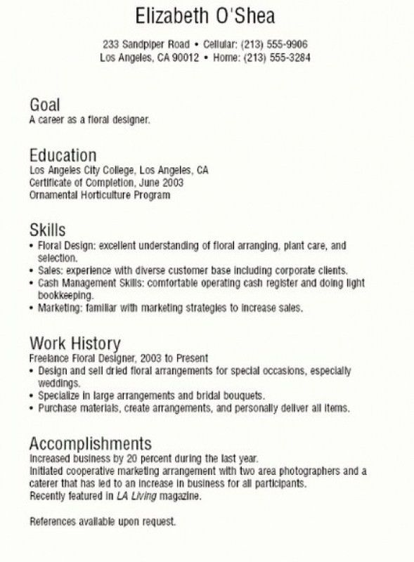 Download How To Write A Resume Teenager | haadyaooverbayresort.com