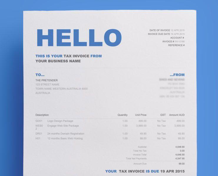 Xero Invoice Template | invoice sample template