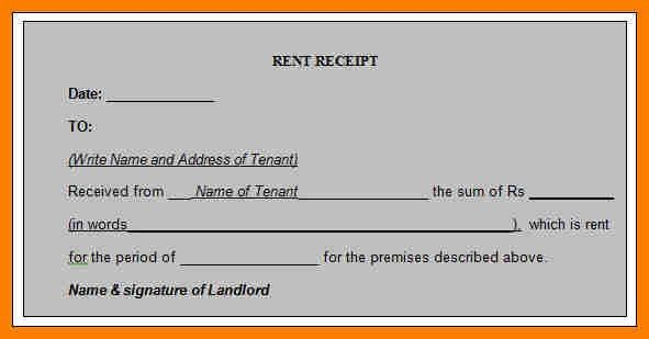 Download Rent Receipt Format | Job.billybullock.us