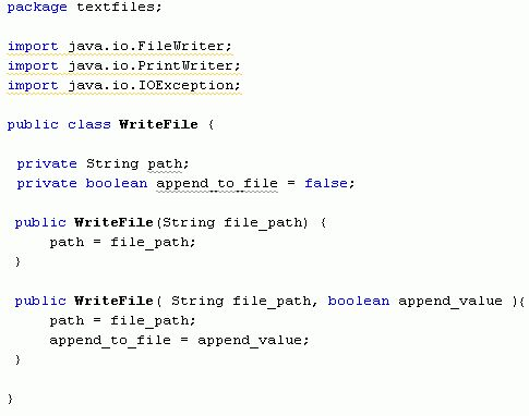 Java For Complete Beginners - writing to text files
