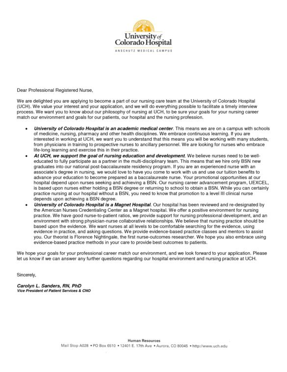 Nurse Practitioners Cover Letter