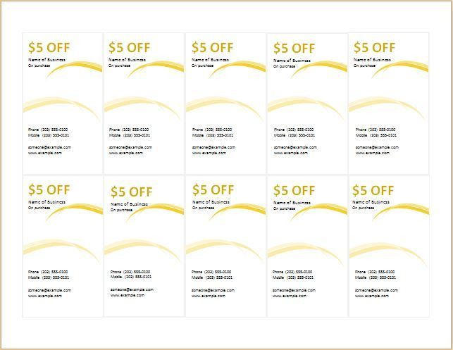Coupon template for MS Word DOWNLOAD at http://worddox.org/how-to ...