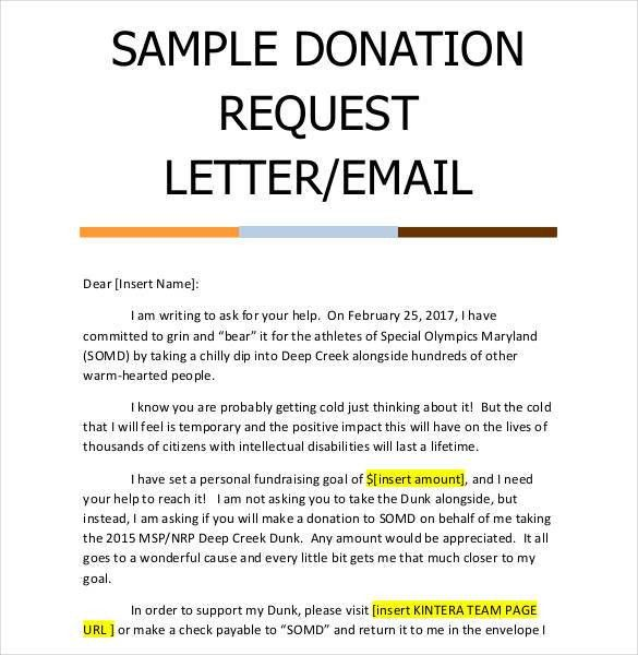 request for donations sample letter | Mytemplate.co