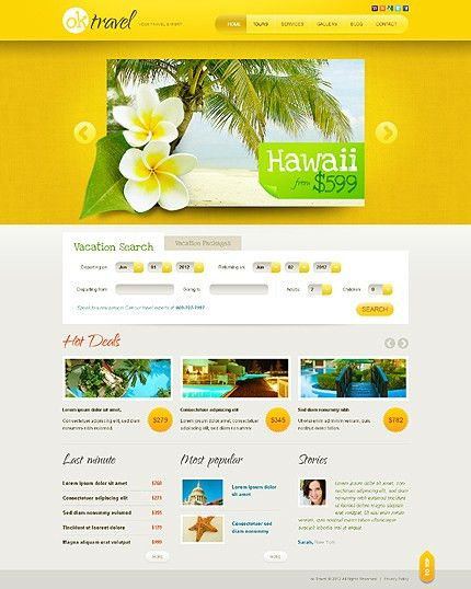Template 38907 - Travel Agency HTML5 & jQuery Website Template ...