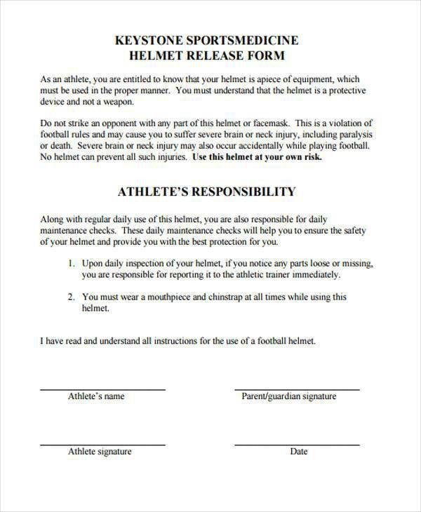 Generic Release Of Liability Form] Printable Sample Release And ...
