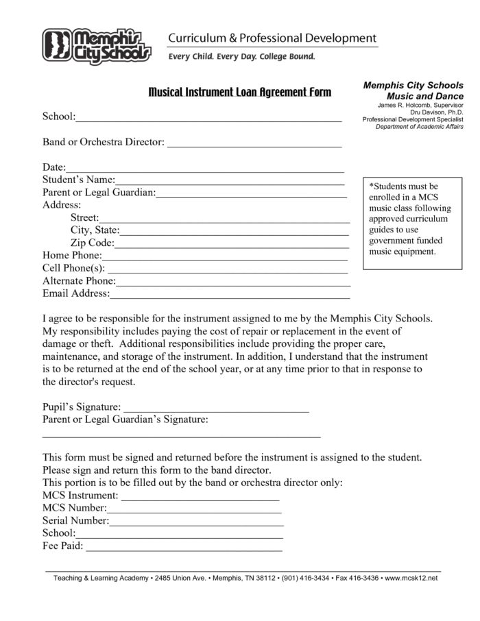 Free Printable Cash Loan Agreement Format And Template Sample ...