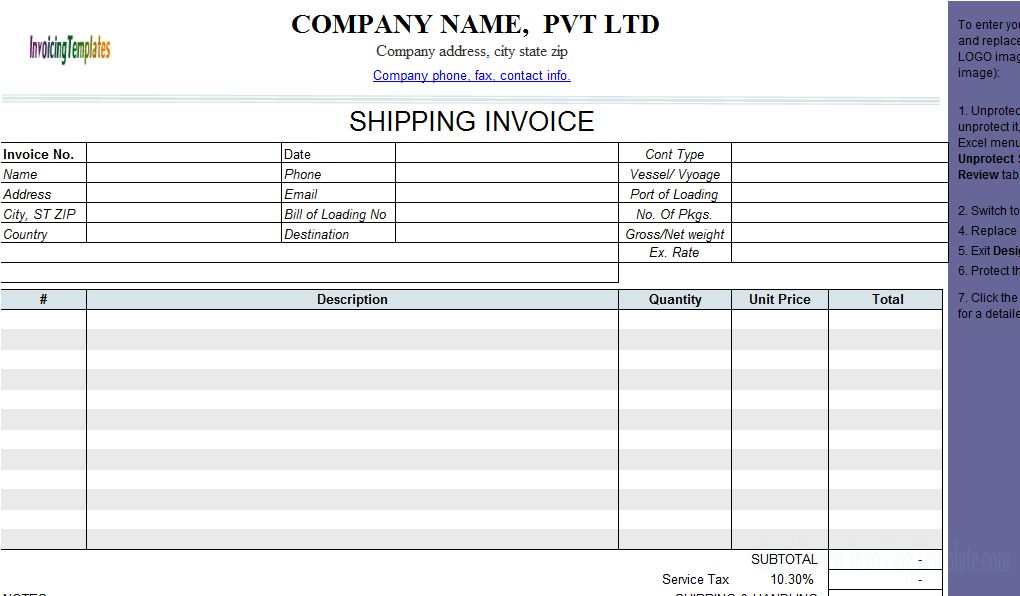 7 Best Images of Shipping Invoice Template - Trucking Invoice ...