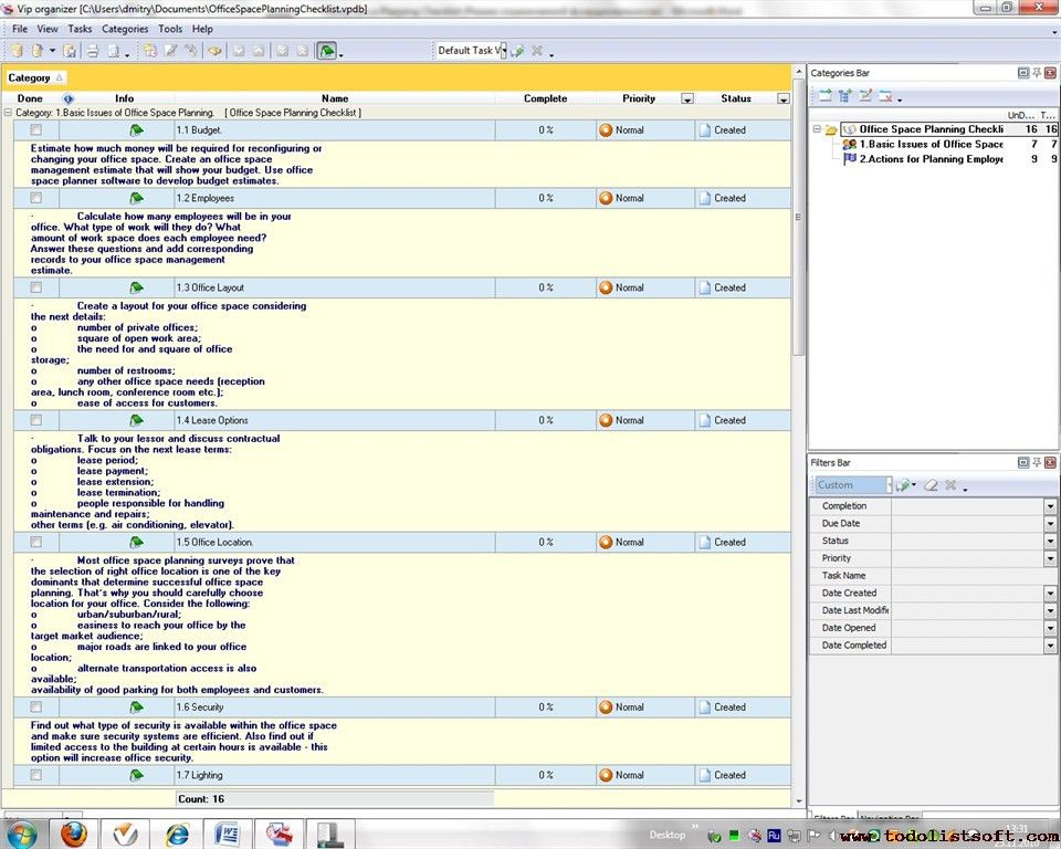 Office management checklists- To Do Lists for office management ...