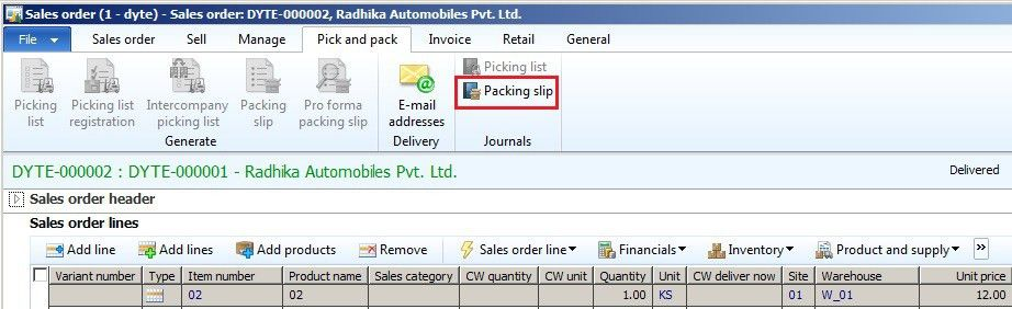 How to cancel Posted Packing Slip for Sales Order in Ax 2012 ...