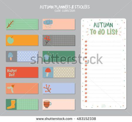 Cute Daily Calendar Do List Template Stock Vector 483152338 ...