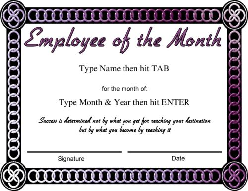 Employee Of The Month Template | cyberuse