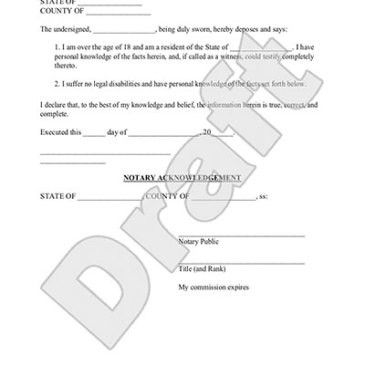 Editable Affidavit form template Archives - Word Templates