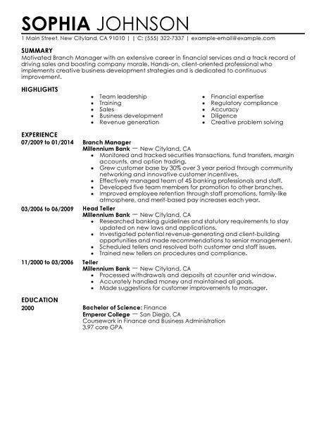 Billing Manager Resume - Template Examples