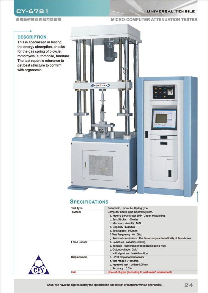 Micro-Computer Shock Absorber Attenuation Tester(CY-6781)-Chun Yen ...
