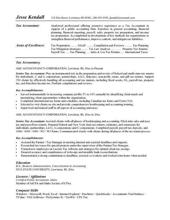 Accountant Resume Sample Canada and free resume download