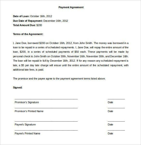 Take Over Car Paymnent Contract Template | Best Template Examples