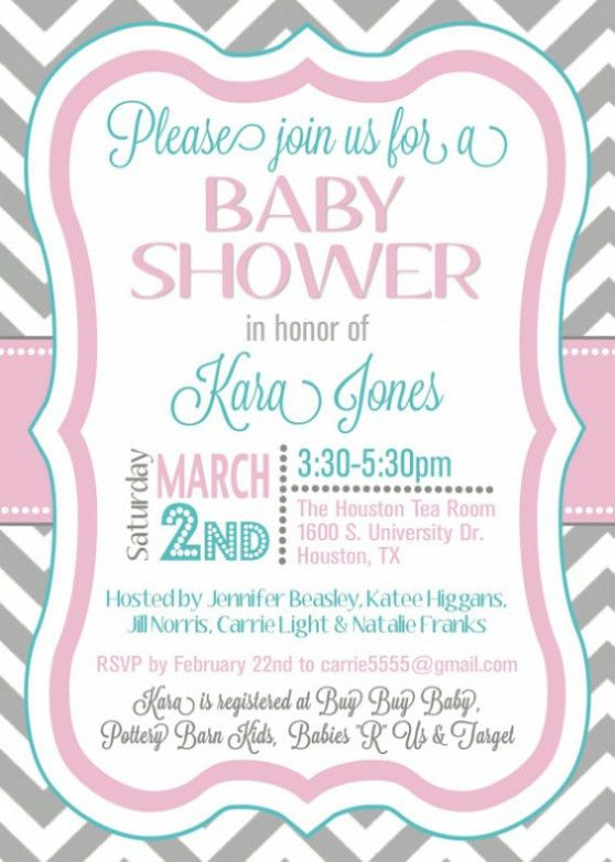 Top 17 Samples Of Baby Shower Invitations Which Viral In 2017 ...