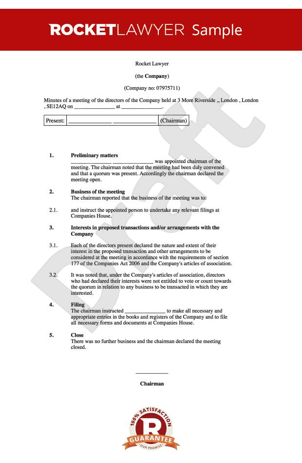 basic meeting agenda template