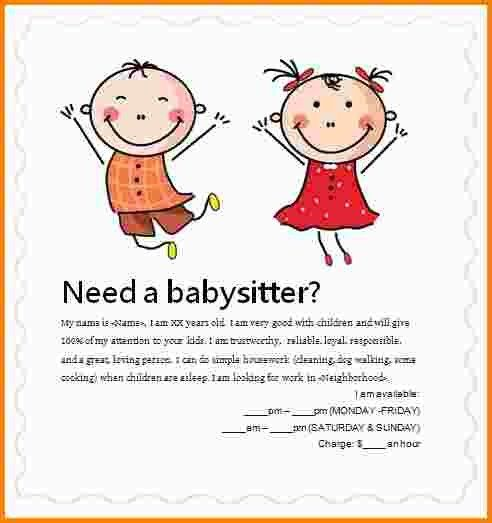 7+ babysitting flyer examples | nypd resume