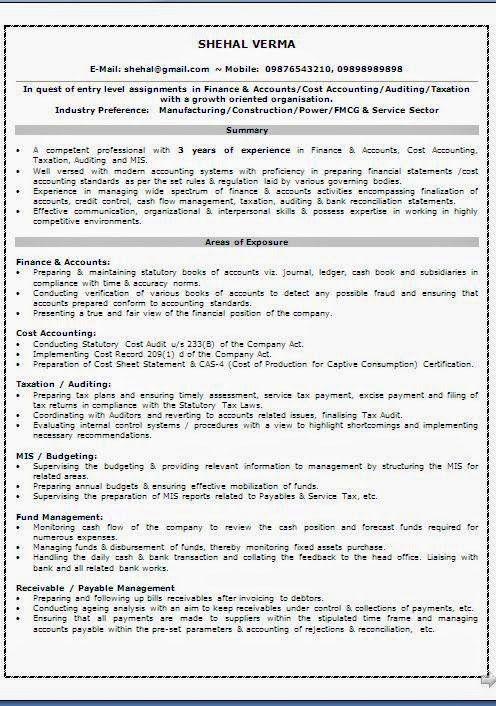 accounts receivable resume sample – bestcvformats