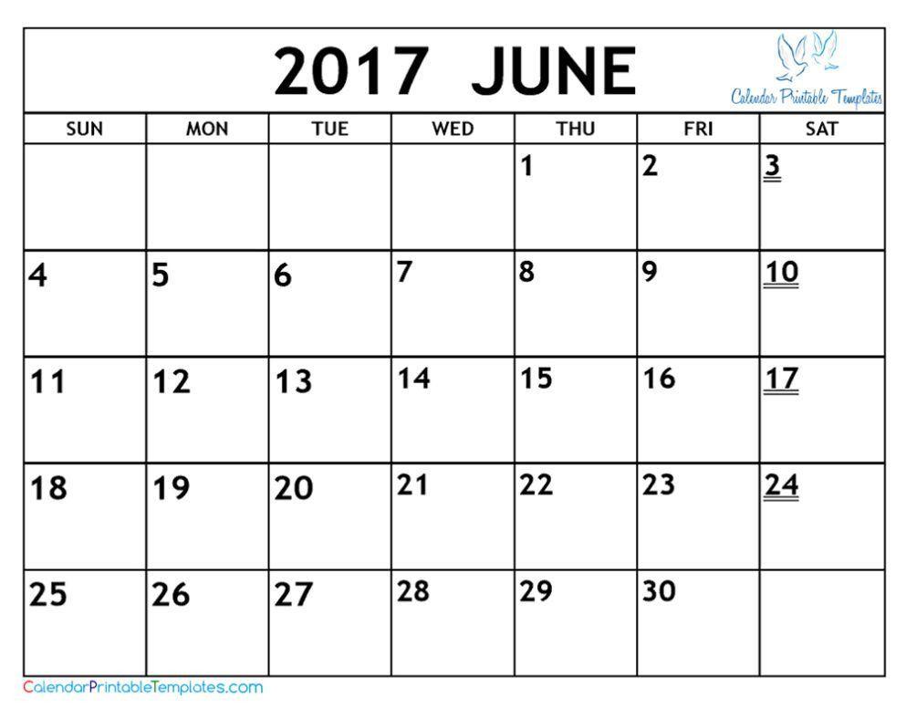 June calendar 2017 http://www.calendarprintabletemplates.com/june ...