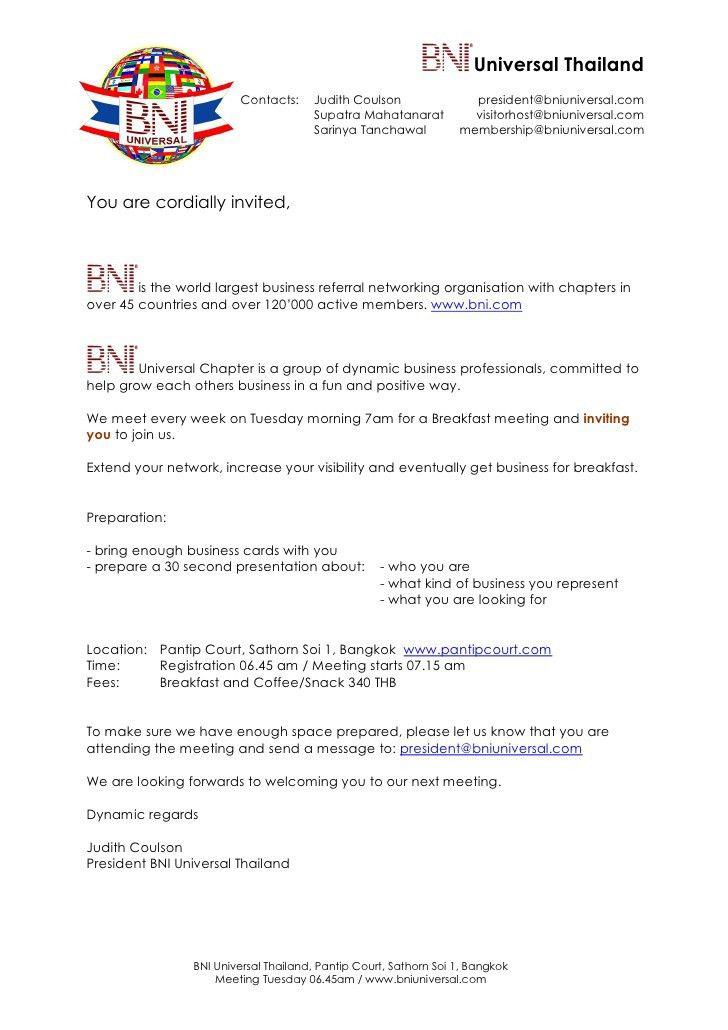 Sample Invitation Letter For Thai Business Visa - Mediafoxstudio.com