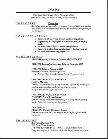 custodial worker resume professional custodial supervisor