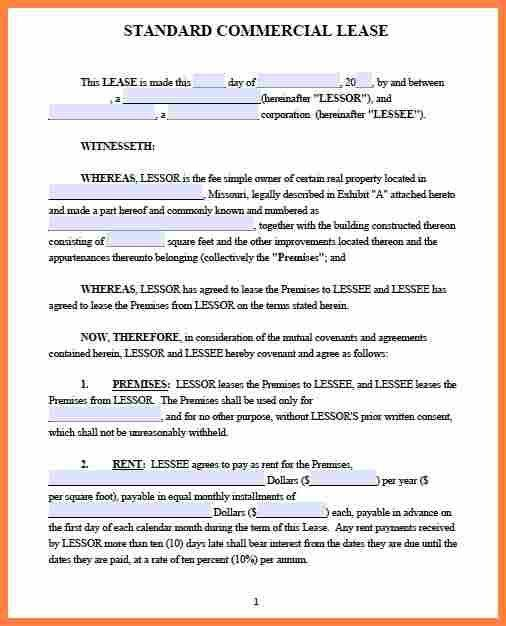 Lease Agreement. Rental Agreement Form Free Printable | Free Word ...