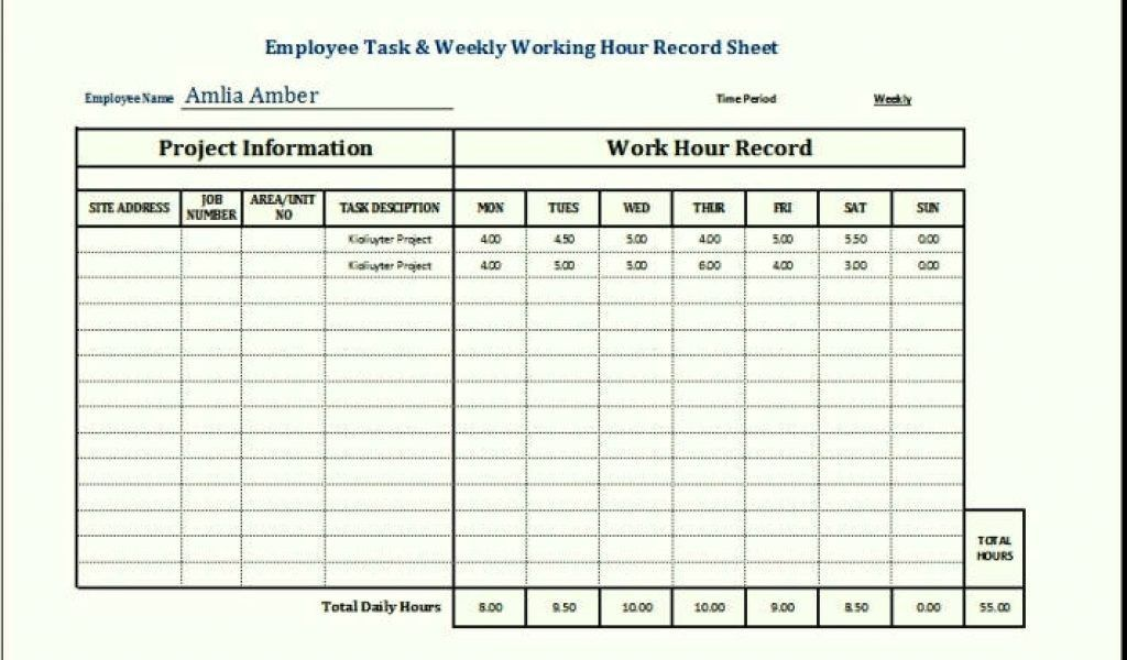 Task Spreadsheet Template. Free To Do List Template For Excel Get .  Employee Task List Template