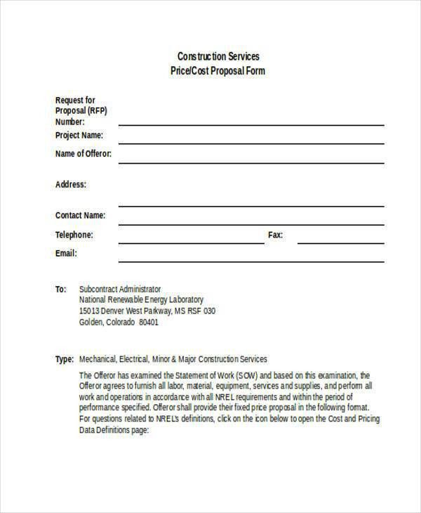 11+ Service Proposal Form Samples - Free Sample, Example Format ...