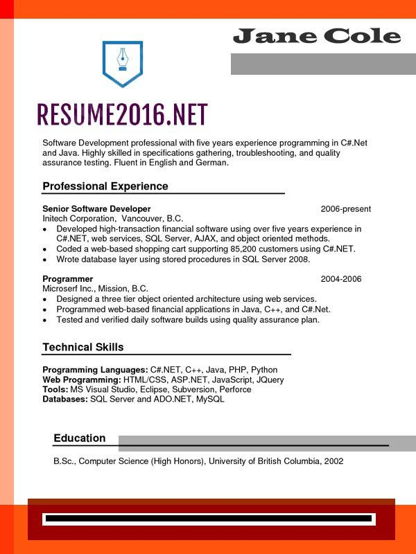 Chronological Resume Format 2016. What's new? •