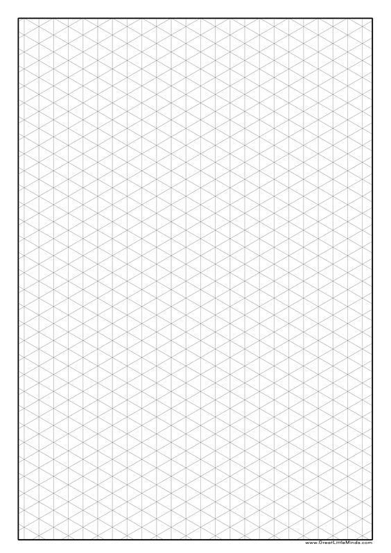 Printable Isometric Graph Paper | Zoey's? Room | Pinterest | Graph ...