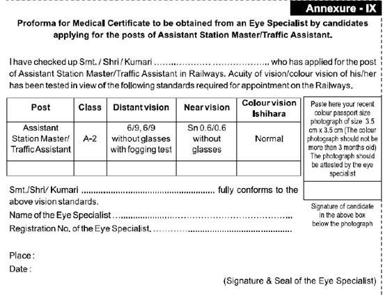 Download) Medical Certificate form Eye Specialist for ASM, Traffic ...