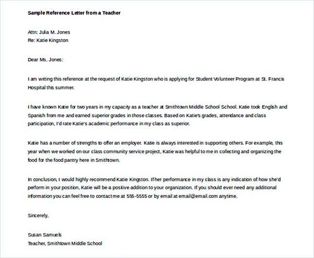Reference Letter Template: Details You Should Include When Writing One