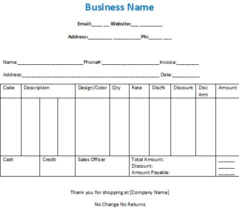 Billing Invoices for Business to receive payments and cheques