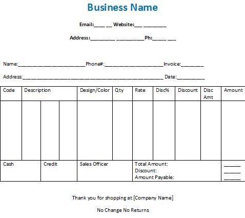 Download Cash Invoice Format in Word | rabitah.net